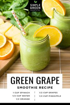 Freezer Smoothies, Healthy Smoothies, Healthy Drinks, Smoothie Recipes, Green Smoothies, Juicer Recipes, Salad Recipes, Grape Smoothie, Smoothie Cleanse