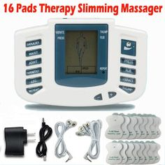 Electrical Stimulator Full Body Relax Muscle Therapy Massager Massage Pulse tens Acupuncture Health Care Slimming Machine 16pads
