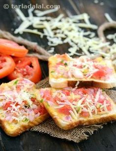 If a snack appeals to everyone in the family, it is not only very satisfying but also saves time! The Onion, Tomato and Cheese Open Toast is one such option that appeals to all. Made with readily available ingredients, this quick and easy snack is convenience incarnate as it does not even require an elaborate serving procedure – just tomato ketchup will do!
