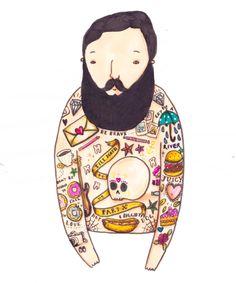 New work / Bearded Men 2014 - Ella Masters illustration