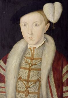 Edward, Prince of Wales, Jane Seymour's son with Henry VIII. The strong resemblance to his mother is clear.