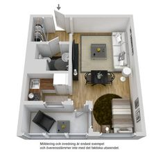 Small Space Living, Tiny Living, Small Spaces, Sims House Plans, Tiny House, Small Houses, Apartment Layout, Compact Living, Facade House