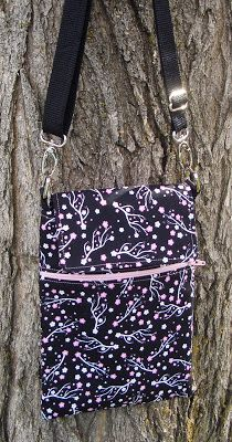 The Fabric Bakery: Easy Cross body Purse Handbag Tutorial with Adjustable Strap and Zipper