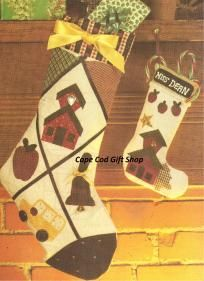 Teacher - School Bus Driver Holiday Stocking Sew - Quilt Pattern ~ Free S
