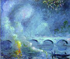 Theodore Earl Butler - Fireworks, Vernon Bridge, 1908