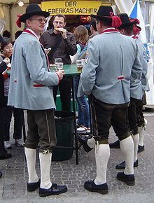 Tracht is a traditional national costume in German-speaking countries. Although the word is most often associated with Austrian and Bavarian costumes, many other peoples of Germany have them.