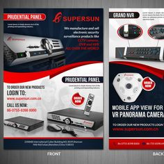 Design a eye-catching flyer design for CCTV Products by VGaneshayan1
