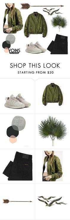 """Untitled #74"" by tamara-kotoyan on Polyvore featuring adidas Originals, Nudie Jeans Co., Creative Co-op, chic, bomberjacket, bomberjackets and fashionset"