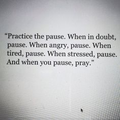 Practice the pause.  This is from Roma Downey, I believe.