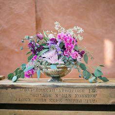 purple centerpiece - www.bellacalla.com - Bella Calla - Denver Vail Aspen Florist