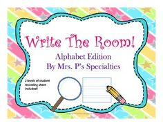 Your students will love learning letters and words with this Write The Room bundle!! There are two student worksheets included so students can be successful no matter their level. Each letter has 6 words and pictures to be hidden and discovered. All of the student sheets are in black and white to help save ink and make for easy copying.