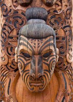 Maori Ta Moko tattoo art is making a resurgence; visit Rotorua, the heartland of the Maori culture, while you locum in New Zealand Arte Tribal, Tribal Art, Mascara Maori, Art Maori, Ta Moko Tattoo, Maori Tattoos, Art Premier, Art Africain, Arte Popular