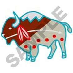 Embroidery Design: Native American Buffalo ...