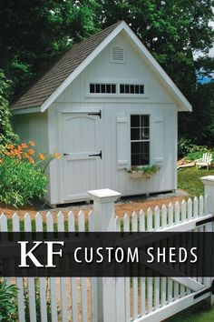 Whether you're looking for a place to store the lawnmower or get a jump on spring gardening, we've got the solution. Browse our 16-acre outdoor structure display park for endless ideas! When you're ready, we'll help you design your perfect building.  #kloterfarms #ellingtonct #customshed #madeinusa #yard #sheshed Outdoor Buildings, Outdoor Structures, Cottage Garden Sheds, Free Shed, Custom Sheds, Shed Homes, She Sheds, Outdoor Sheds, Building A Shed