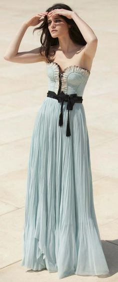 Baby blue evening gown / Miraz Willinger.