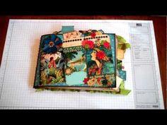 Graphic 45 Tropical Travelogue Mini Album Journal Using Strathmore Base