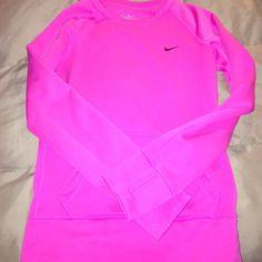 Nike sweatshirt Neon pink Nike sweatshirt hardly worn! Nike Sweaters
