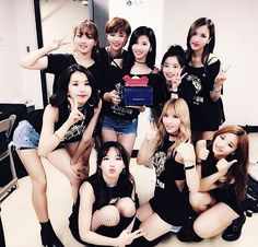 Happy Twice one year anniversary!!  so proud of how far they've come in just one year  #kpop #twice