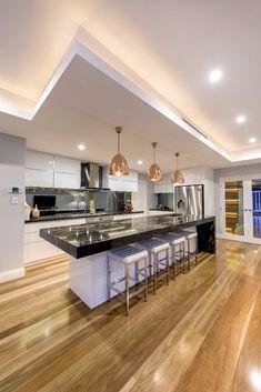 Home Design, Luxury Kitchen Design, Kitchen Room Design, Luxury Kitchens, Modern House Design, Interior Design Kitchen, Kitchen Ideas, Kitchen Layout, Kitchen Decor