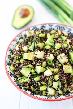 Quinoa Salad with Edamame, Cucumber and Avocado Recipe on http://twopeasandtheirpod.com Love this healthy salad! #glutenfree #vegan