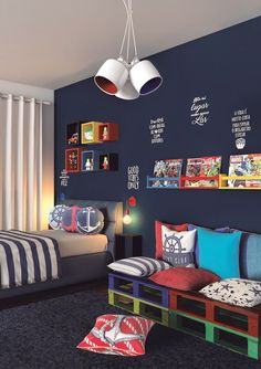Mommy experts share Kid's Bedroom Storage Ideas That Are A Must See! Bedroom inspirations and Beautiful Designs Create the Perfect kids room design also for a toddler Boy room and toddler girl room. Awesome kids room decor and bedroom decor ideas! Kids Bedroom Storage, Boys Bedroom Decor, Baby Bedroom, Kids Bedroom Boys, Boys Room Ideas, Boy Bedroom Designs, Bed Designs, Playroom Ideas, Marvel Boys Bedroom