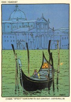 5 Venetian Spirits on a Gondola, 1984 Carnival