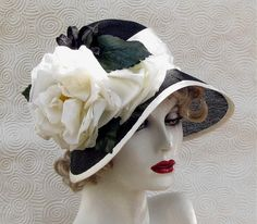 Black and White Edwardian Era Hat by Vintage Style Hats by Gail, via Flickr