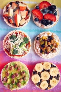 Savoury and sweet delicious healthy rice cakes
