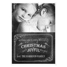 Chalkboard Christmas Photo Card by Orabella Prints. #chalkboardchristmas #christmasphotocard #christmas