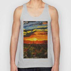South Mountain Sunset Unisex Tank Top by Rachel Winkelman - $22.00
