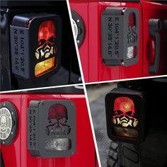 Jeep Wrangler Accessories - Tail Light Covers for Jeep Wrangler 2007-2018, Including Rubicon, Sahara and Sport, 2-Door and 4-Door Jeep JK Rear Light Guards (Black) Jeep Wrangler Lights, 2007 Jeep Wrangler, Jeep Jk, Jeep Wrangler Accessories, Sport 2, Rubicon, Light Covers, Tail Light, 4x4