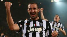 Giorgio Chiellini shows his delight at Juventus' serene progression