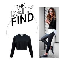 """""""Daily Find: Dude And The Duchess Cropped Sweater"""" by polyvore-editorial ❤ liked on Polyvore featuring DailyFind"""