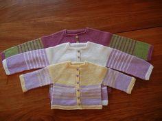 Castille: tutoriel tricot pour Cardigan bébé - Tutoriels de tricot chez Makerist
