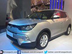 Mahindra Owned Ssangyong Showcases Tivoli SUV At 2016 Auto Expo  #AutoExpo2016 #Mahindra #Ssangyong