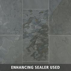 Samba Gray Slate Tile - 12 x 24 - 924100209   Floor and Decor