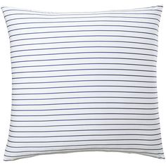 Serena & Lily Percy Stripe Euro Sham (1.102.025 IDR) ❤ liked on Polyvore featuring home, bed & bath, bedding, bed accessories, patterned bedding, stripe euro sham, white euro sham, serena & lily and white bedding