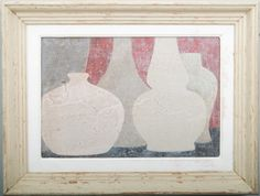 5A - Original acrylic painting on wood in antique frame by Peter Woodward
