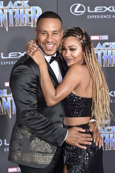 The Black Panther Film Premiere - Actress Meagan Good with Director DeVon Franklin attends the event. Who says you cant sneak a cuddle on the purple carpet? Black Celebrity Couples, Black Love Couples, Cute Couples, Black Panthers, Marriage Couple, Before Marriage, Beautiful Couple, Black Is Beautiful, Beautiful Women
