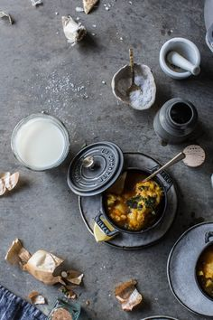 Nothing like spicy food and sweet milk - a turmeric spiced Moroccan Root Vegetable Stew with Mint & Safron Milk Dumplings