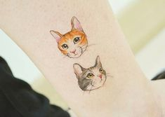 Small Tattoos sells temporary tattoos designed by professional artists and designers. Our temporary tattoos are safe and non-toxic. Cat Portrait Tattoos, Dog Tattoos, Animal Tattoos, Cute Tattoos, Beautiful Tattoos, Tatoos, Tattoo Gato, 4 Tattoo, Color Tattoo