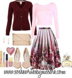 Fall Fashion: Burgundy + Florals