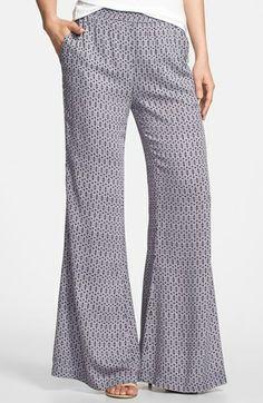Search for Sanity Print Tuxedo Stripe Palazzo Pants | Nordstrom