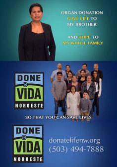 GRACIAS a nuestros voluntarios de Done Vida Noroeste para este video! // THANKS to our Done Vida Noroeste volunteers for this video! #donatelife #donevida