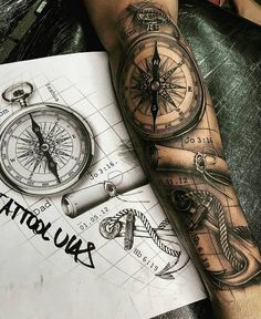 Sexy Tattoos For Women With Meaning - diy best tattoo ideas Map Tattoos, Best Sleeve Tattoos, Tattoo Sleeve Designs, Tattoo Designs Men, Body Art Tattoos, Cool Tattoos, Tattoo Fonts, Men Tattoo Sleeves, Sleeve Tattoo For Guys