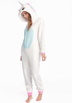 Combinaison pyjama licorne - OFFWHITE - 15000386_1001