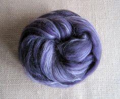 SALE  Darkwing Duck  Merino Top & Tussah Silk Fiber  by GnomeAcres