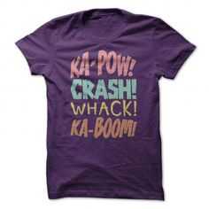 Comic Book Sounds T Shirts, Hoodies, Sweatshirts. CHECK PRICE ==► https://www.sunfrog.com/Geek-Tech/Comic-Book-Sounds-T-Shirt-Purple-Guys.html?41382