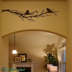 2 Birds on Bare Branches Vinyl Home Decor Wall Art Stickers Decals Graphics 765