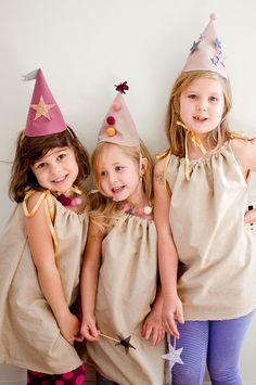 Girls Felt Birthday Hat - Glitter Stars - Silver, Pewter and Purple on Etsy, $28.00